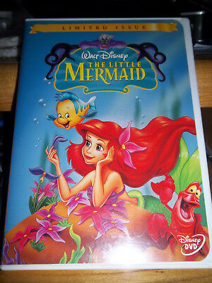 WALT DISNEY CLASSIC DVD of THE LITTLE MERMAID in WHITE CASE ~GUC