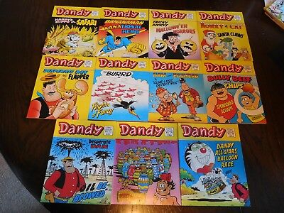 Eleven Early Edition Vintage Dandy Comic Library's no 61, 63 to 69, 73, 75 & 76
