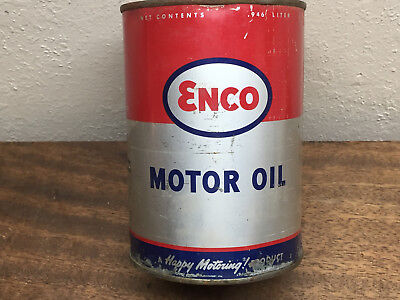 Vintage ENCO (Humble) Motor Oil quart can-SAE 40-FULL! ~ In Great shape
