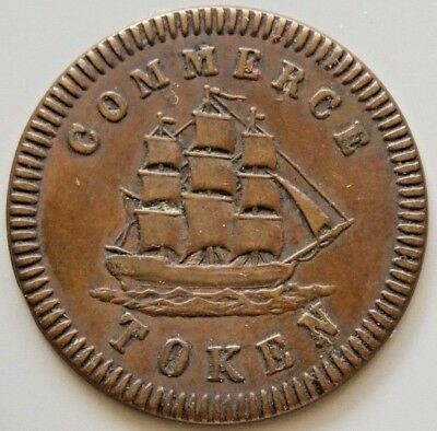 LC-17A1 Lower Canada Canadian Merchant Token Francis Mullins & Son Montreal