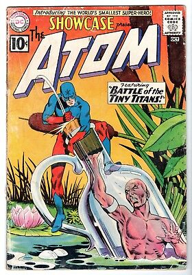 Showcase #34 featuring The First SA Appearance of The Atom, VG- Condition