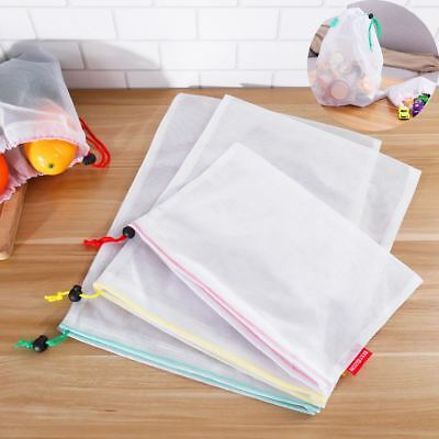 15x Eco Friendly Reusable Mesh Produce Bags Travel Packing Organizer Pouch AU