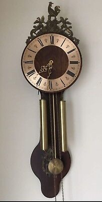 Large Vintage Dutch Wall Clock
