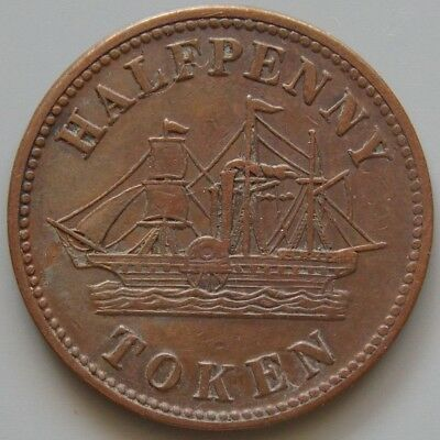 PE-8A1  PEI Prince Edward Island Canada Token - Fisheries & Agriculture / Ship
