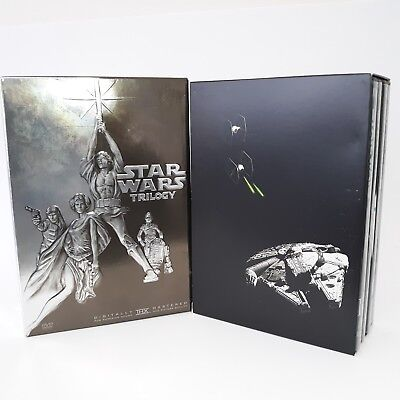 Star Wars Trilogy 4  Disc Box Set Widescreen  4 5 6 DVD with Bonus Material 2004