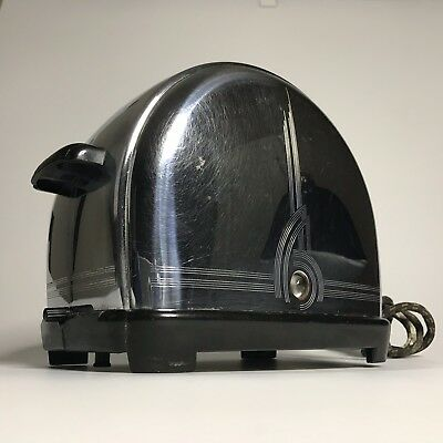 Excellent Vintage 1939 Design Sunbeam T9 Chrome & Bakelite Toaster Art Deco