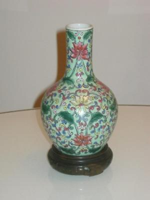 Stunning Chinese Porcelain Vase & Stand