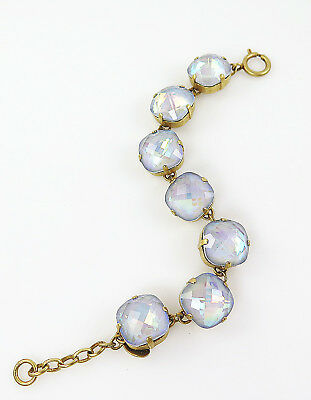 CATHERINE POPESCO gold bracelet X Large 16mm Swarovski Crystal Artic MOVING SALE