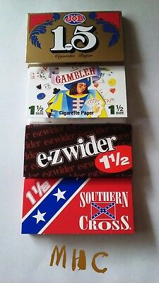 4 Book Variety Set! 1.5 (1-1/2) Cigarette Rolling Papers! JoB Gambler EzWider SC