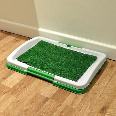 Dog Puppy Pet Litter Toilet Training Tray Artificial Grass Odourless Potty