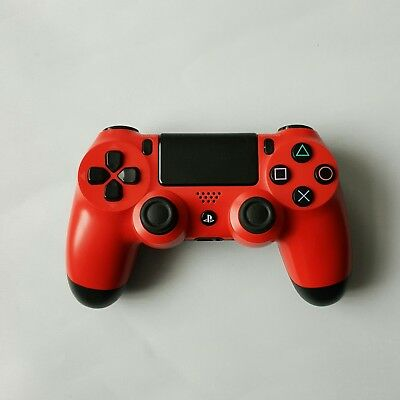 Sony DUALSHOCK 4 PlayStation 4 Magma Red Controller PS4 Excellent Condition V1