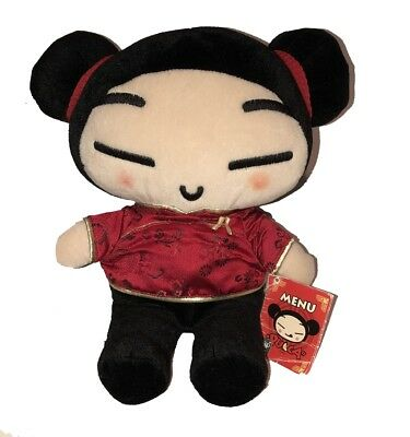 """Obscure Pucca Plush w/Menu Tri-Fold Tag SHIRT IS DIFF THAN OTHERS Korean 10""""-13"""""""
