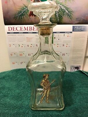 Old Fitzgerald Colonial Whiskey Decanter 4/5qt, 1963-1969 Very Nice w/ Cork Top
