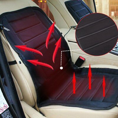 Car Front Seat Hot Heated Cushion Pad Warmer Protector Cover Black 12V Van Safe