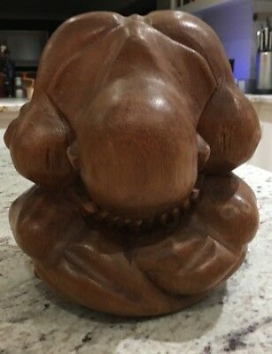 Carved wooden oriental figure
