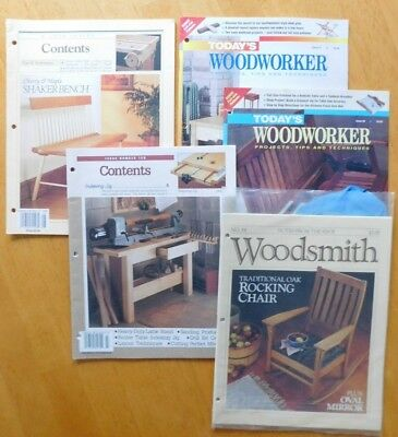 Lot 5 Today's Woodworker and Woodsmith Shop Notes No 84 Woodworking Projects