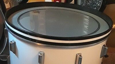 """Rogers Bass Drum hoop 22""""  1972 solid ex/con new England white"""