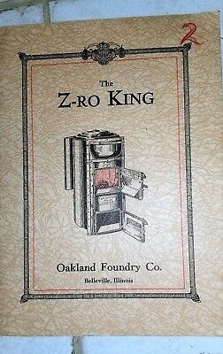 1913-17 Oakland Foundry (The Z-RO KING)  NICE! (Belleville, Ill.)