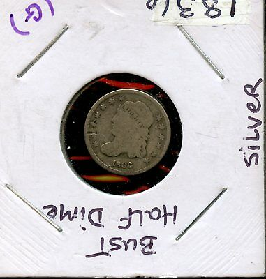 1836 5c United States Silver Capped Bust Half Dime 5c Coin AD10