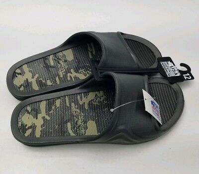 Flip Flops Black Made in the USA with 75% US Parts Mens size 12 Brand New Slipon