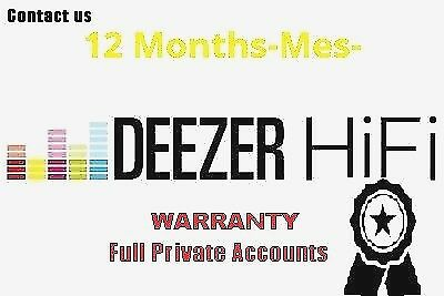Deezer HIFI ♪ Plan High Quality 12 Month -Mes- Worldwide【INSTANT DELIVERY】