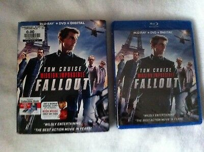 MISSION: IMPOSSIBLE FALLOUT (BLU-RAY + DVD + DIGITAL) with SLIP COVER Brand New