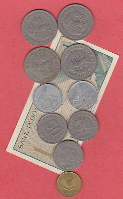 INDONESIA - BULK COINS & BANKNOTE LOT- nice mix for Collectors/Travellers
