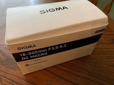 SIGMA 18-300MM F/3.5-6.3 DC HSM OS Telephoto Zoom Lens With Macro - For CANON