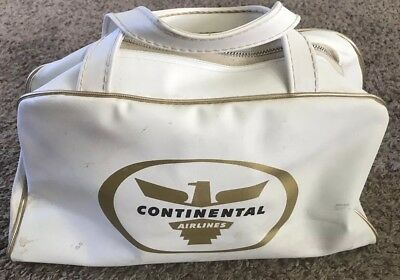 Vintage Continental Airlines White / Gold Carry-On Bag