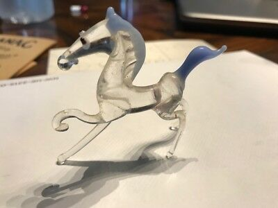 Vintage MURANO GLASS Hand Blown HORSE Italian art glass Figure