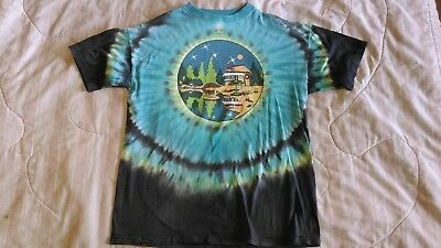 Vintage 1991 Grateful Dead Concert Parking Lot T shirt tie dyed