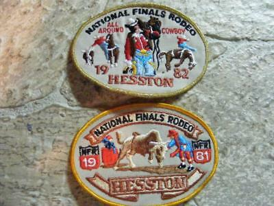1981, 1982 PATCHES HESSTON KANSAS NATIONAL FINALS RODEO NFR cowboy western PATCH