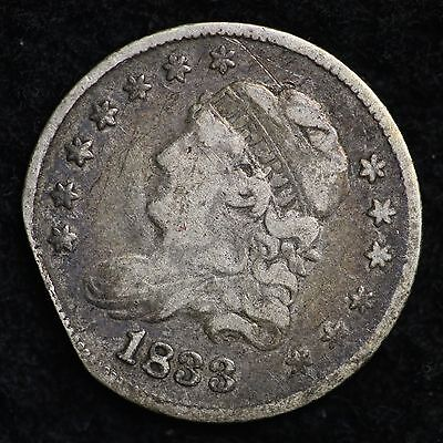 1833 CLIP Capped Bust Half Dime CHOICE FINE FREE SHIPPING E132 ANF