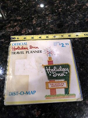 Vintage Holiday Inn Travel Planner Dist-O-Map