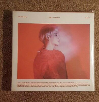 SHINee Jonghyun Poet Artist NEW CD Photo Book Card US DEALER