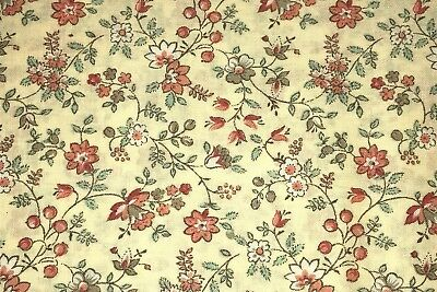 1/2 YD Daisy Rose Twisting Vines Cotton Quilt Fabric BTHY by Concord ~ Vintage