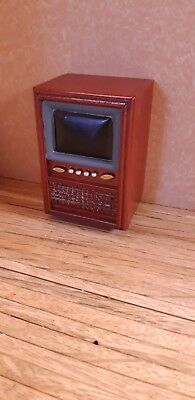 Dolls House Furniture 12th Scale,  Retro Television  - By Debbie