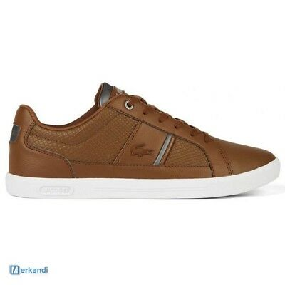LACOSTE EUROPA 417 1 SPM LEATHER//SYNTHETIC WHITE 7-34SPM0044001 MEN SHOES B