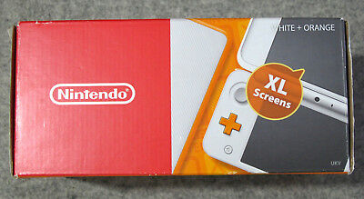 New Nintendo 2DS XL WHITE/ORANGE - BOX ONLY - Box, Inserts, AR Cards & Manual