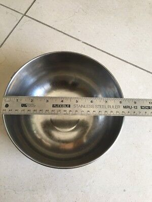 "Revereware Stainless Steel Mixing Bowl-8"" x 4 1/2""- Revere Ware w/ ring vintage"