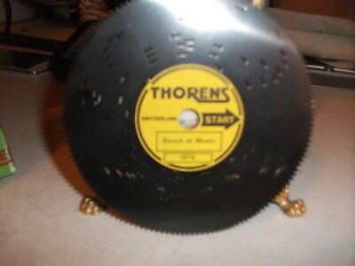 Vintage Thorens Metal Music Box Disc- Tune: Sound Of Music #3