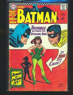 Batman # 181 - 1st Poison Ivy poster detached but still there G/VG Cond.