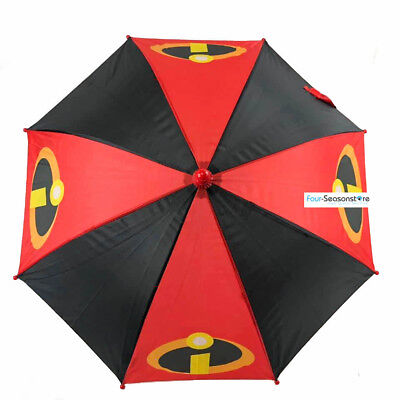 Disney Incredibles 2 Molded Handle Umbrella for Kids Red and Black color