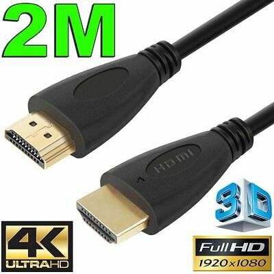 2m GOLD HDMI Cable v2.0 Ultra HD 4K 2160p 1080p 3D High Speed Ethernet ARC HEC