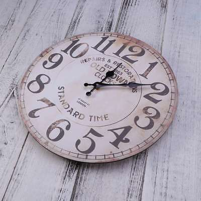 1PC Antique Vintage European Style Wooden Wall Clock Unique Gift Wall Decoration