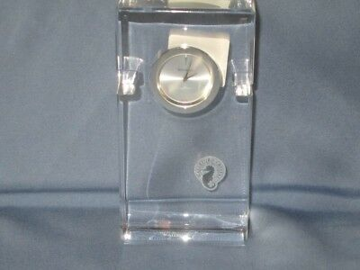 NWT WATERFORD IRISH CRYSTAL METRA Small Desk Mantel Clock