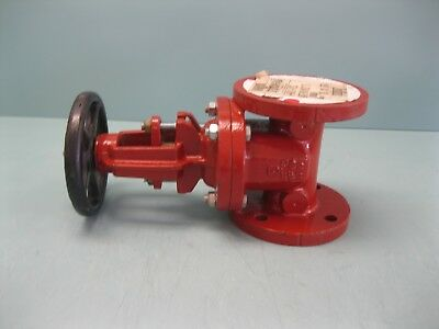"2-1/2"" Stockham 200# WP Flanged Fire Main Gate Valve G-610 NEW H20 (2416)"