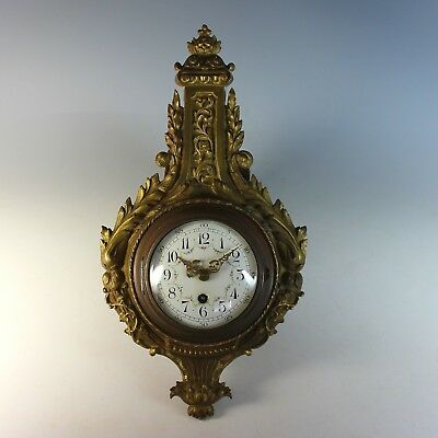 Antique CH HOUR French 8 Day Cartel Clock 19th Century