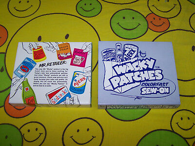 VINTAGE 1974 TOPPS - WACKY PACKAGES SEW-ON PATCHES and BOX - 21 PATCHES - RARE
