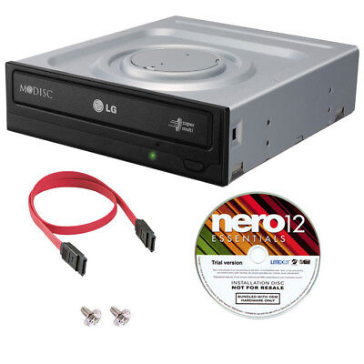 LG GH24NSC0 24X Internal SATA DVD CD +/-R & RW DL Burner Re-Writer+Nero Software